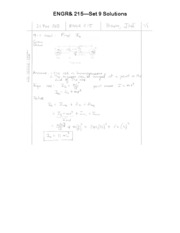 ENGR 215 Set 9 Solutions