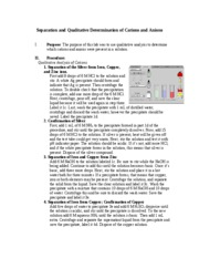 Separation and Qualitative Determination of Cations and Anions
