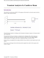9.Transient Analysis of a Cantilever Beam.pdf