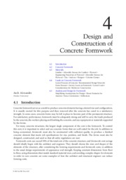 Design and Construction of Concrete Formwork
