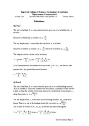 Tutorial Sheet 1 Solutions