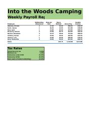 Lab 3-2 Into the Woods Weekly Payroll Report