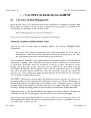 FRM Notes 2011 Unit ID The Value of Risk Management