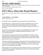 GE's Move Alters the Bond MarketApr2015 - WSJ