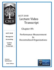 Chap 09 - Lecture Video Transcript