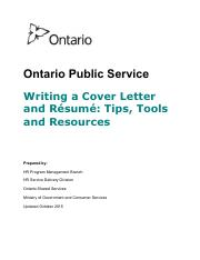 OPS Cover Letter and Resume Writing Guide
