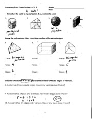 Geo Final Exam Notecard Formulas - Chapter7Formulas Hint ...
