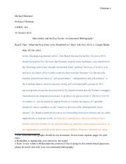 Boy Scouts Annotated Bib Example