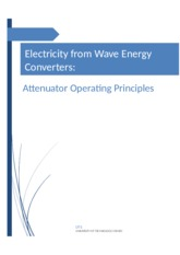 Electricity from Wave Energy converters