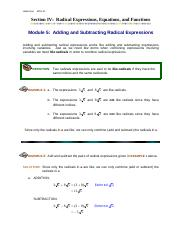 Module5_Adding_and_Subtracting_Radical_Expressions