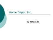 Home Depot, Inc chapter 9 case