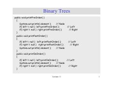 lecture 11 on Data Structures