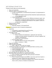 ACCT 470 Exam 2 in class notes.docx
