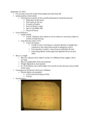 ASTR101 Gravity Lecture Notes