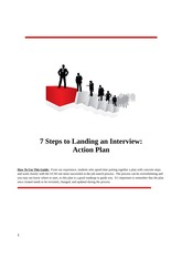 How to Land an Interview Action Plan - UCSO