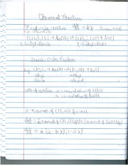 Phsyics 292 Chemical Reactions Notes
