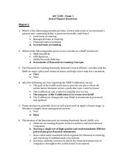 ACC 5100 -  Exam 1 End of Chapter Questions.docx