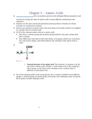 Chapter 3 � Amino Acids
