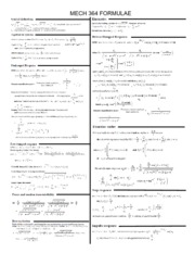 MECH 364 FINAL EXAM CHEAT SHEET