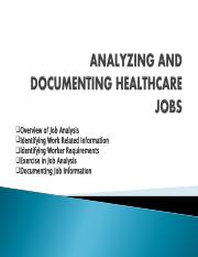 HADM 4970 (R) ANALYZING AND DOCUMENTING HEALTHCARE JOBS[774]