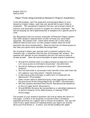 Paper Three Guidelines (Research Project)--Social Science--S16.doc