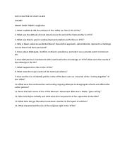 HIST3 CHAPTER 26 STUDY GUIDE