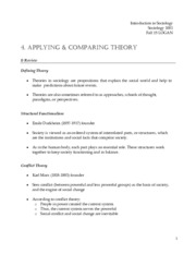 handout 4. applying theory (soc 1001) fall 15