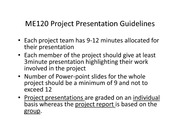 ME120 Project Presentation Guidelines