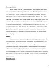 MGMT 650 Statistics for Managerial Decision Making Critical Article Review