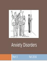 12. Anxiety Disorders, Part 3 - for students