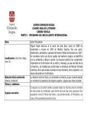 Cuadro De Analisis Literario Doc Aspaen Gimnasio Iragua