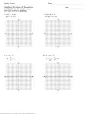 Algebra Honors - Graphing Systems of Equations
