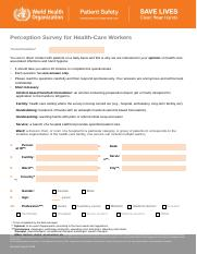 Perception_Survey_for_Health_care_Workers