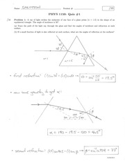 PHYS 1150 Summer 2014 Quiz 1 Solutions