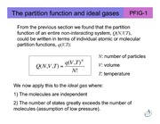 Lecture E on Thermodynamics, Kinetics, and Statistical Mechanics