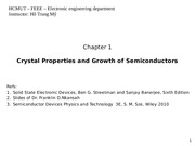 SSED_Ch  1 - Crystal Properties and Growth of Semiconductors_Print