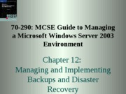 Windows Server 2003 Environment Chapter 12