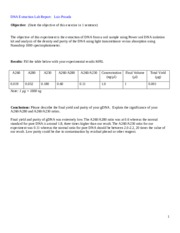 DNA Extraction Lab Report
