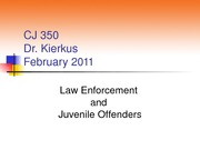 CJ 350 Policing Lecture (Winter 2011)