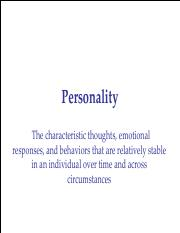 4. Personality