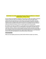 NR 510 Week 4 Case Study; Organizational Change and Ethical-Legal .... Nursing Part 2.docx