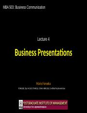 BC4 - Business Presentations