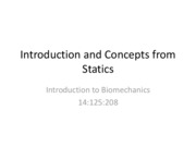 Biomech-Intro and Statics-Lecture