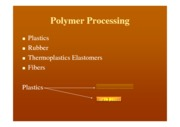 Polymer Processing handout