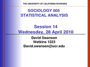 UCR SOC 005 STAT SPR 2010 Session  14  V2