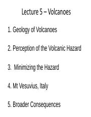 ES 2GG3 - Lecture 5 - Volcanoes - A2L (1)