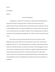Sonnet 138 Explication Essay