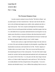 The Personal Response Essay