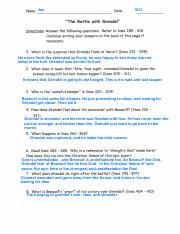 Beowulf Worksheet 2-2 - Name Date The Coming of Beowulf ...