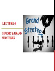Lecture-4 Long Term Objectives & Strategy 1of2
